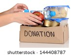 donation box isolated on white | Shutterstock . vector #144408787