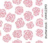 han drawn rose pattern | Shutterstock .eps vector #144412393