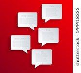 vector bubble speech background.... | Shutterstock .eps vector #144418333