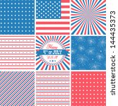 red white and blue  stars and... | Shutterstock .eps vector #144435373
