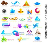 vector illustration of abstract ... | Shutterstock .eps vector #144436003