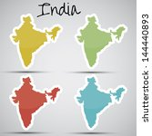 stickers in form of india | Shutterstock . vector #144440893