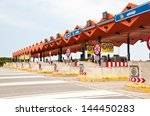 Overview Of A Toll Zone On A...