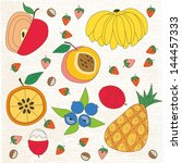 fruit pattern | Shutterstock .eps vector #144457333
