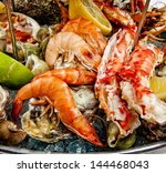 a seafood mix | Shutterstock . vector #144468043