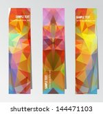 a set of colorful vertical... | Shutterstock .eps vector #144471103