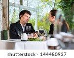businesspeople having business... | Shutterstock . vector #144480937