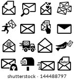 letters icons | Shutterstock .eps vector #144488797