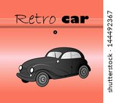 beautiful poster with a retro... | Shutterstock .eps vector #144492367