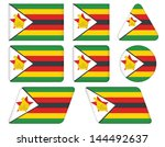 set of buttons with flag of... | Shutterstock .eps vector #144492637