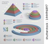 color 3d infographic elements.... | Shutterstock .eps vector #144496897