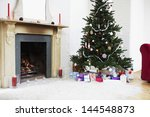 Fireplace And Christmas Tree...