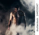 wounded cyborg standing in a fog   Shutterstock . vector #144553547