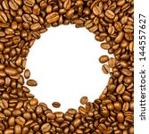 frame made from roasted coffee...   Shutterstock . vector #144557627