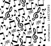 musical background from notes | Shutterstock . vector #144573593
