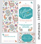 paisley wedding invitation set  ...
