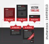 horizontal timeline template.... | Shutterstock .eps vector #144593513