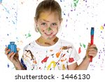 beautiful 6 year old girl... | Shutterstock . vector #1446130