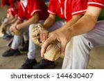 low section of baseball team... | Shutterstock . vector #144630407