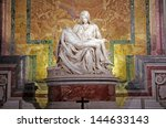 Small photo of ROME, ITALY - MARCH 07: Pieta by Michelangelo in Saint Peter's Basilica, Vatican on March 07, 2011 in Rome, Italy