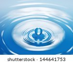 drop hitting surface of water... | Shutterstock . vector #144641753