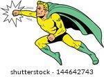 classic retro superhero with...
