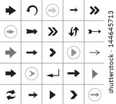 arrow icons set   isolated on... | Shutterstock .eps vector #144645713
