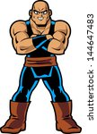 anime manga muscle man | Shutterstock .eps vector #144647483