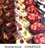 Colorful Display Of Pastries...