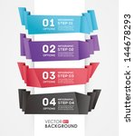 abstract ribbon banner style... | Shutterstock .eps vector #144678293