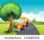 illustration of a car crash at... | Shutterstock .eps vector #144685343
