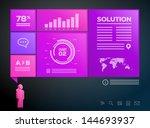 businessman presentation...   Shutterstock .eps vector #144693937