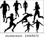 athleticism silhouette | Shutterstock . vector #14469673