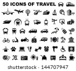icons of travel and trips | Shutterstock .eps vector #144707947