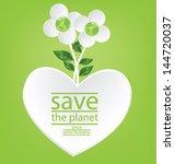flower design. heart. go green. ...   Shutterstock .eps vector #144720037