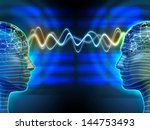 two people communicating by... | Shutterstock . vector #144753493
