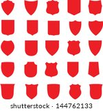 Vector Red Shields Set