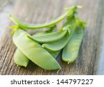 Freshly Picked Snow Peas On A...