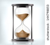true transparent sand hourglass ... | Shutterstock .eps vector #144798853