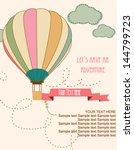 happy birthday air balloon card | Shutterstock .eps vector #144799723