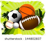 sport balls | Shutterstock .eps vector #144802837