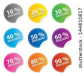 discount sticker and tags set... | Shutterstock .eps vector #144810817