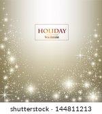 elegant christmas background... | Shutterstock .eps vector #144811213
