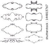 vector decorative design... | Shutterstock .eps vector #144815767