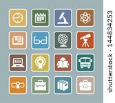 school symbols   Shutterstock .eps vector #144834253