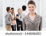 portrait of young businesswoman ...   Shutterstock . vector #144848683