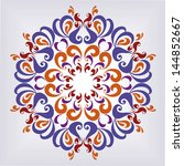 Ornamental round pattern. Colorful ornament with floral elements