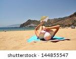 beach scene. playa de la...   Shutterstock . vector #144855547