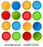 different badges  4 sets    Shutterstock .eps vector #144872503
