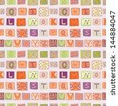 beautiful alphabet seamless... | Shutterstock .eps vector #144884047